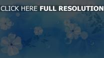 blumen muster kreise blau hell