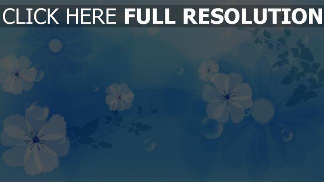 hd hintergrundbilder blumen muster kreise blau hell