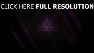 dreieck linien lila grau schwarz