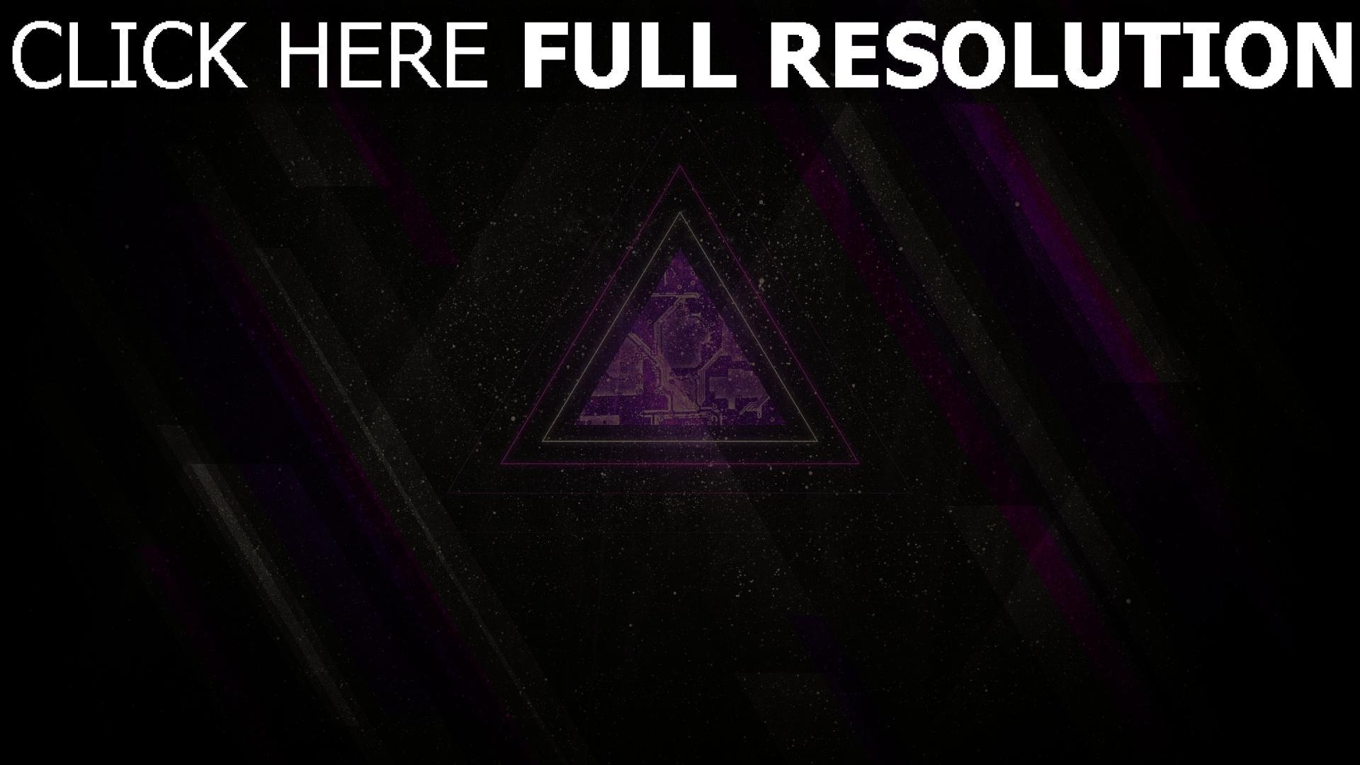 hd hintergrundbilder dreieck linien lila grau schwarz 1920x1080