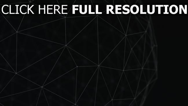 hd hintergrundbilder form volumen 3D linie dunkel