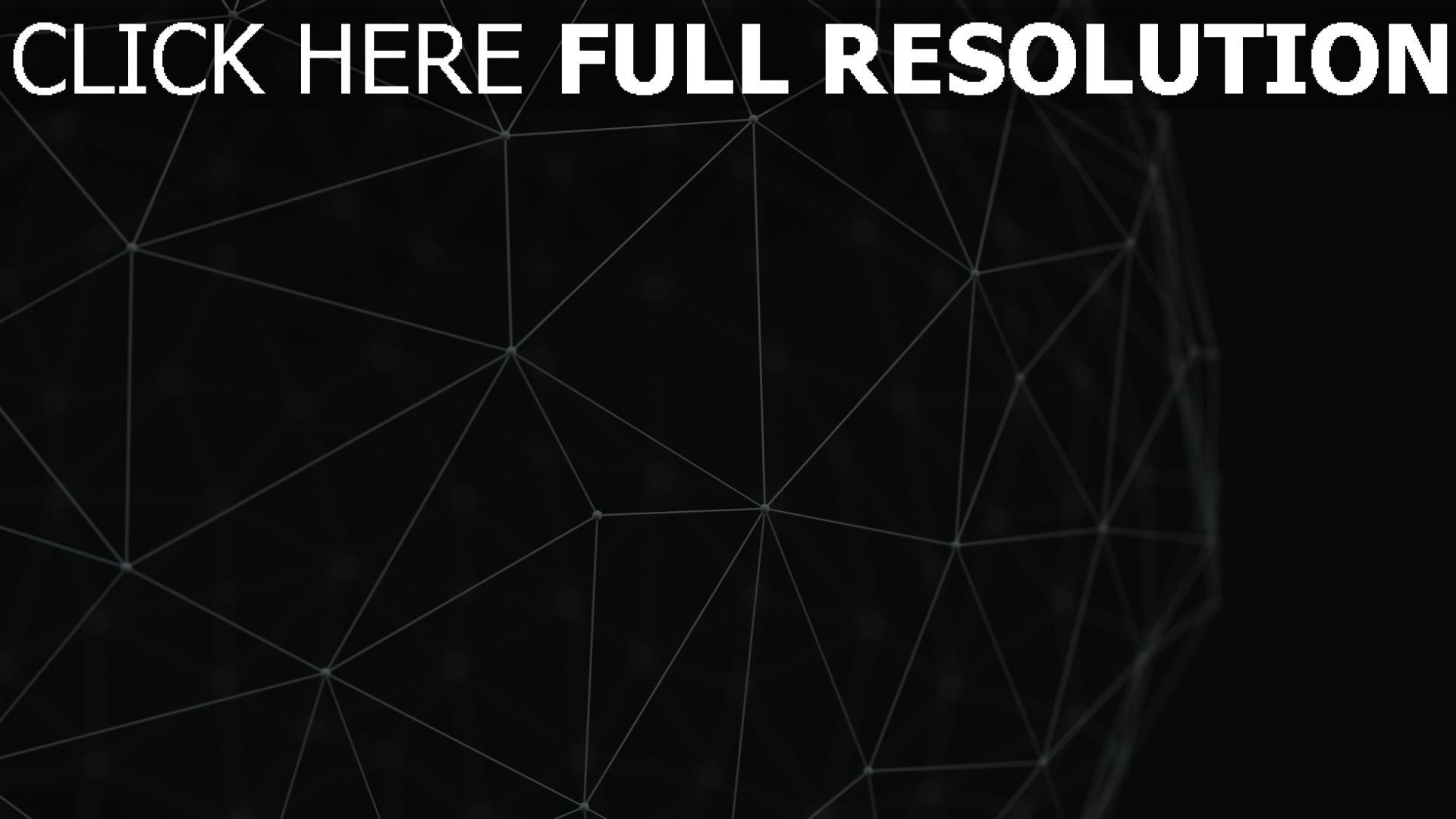 hd hintergrundbilder form volumen 3D linie dunkel 1920x1080