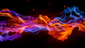 rauch flammen hell dunkel