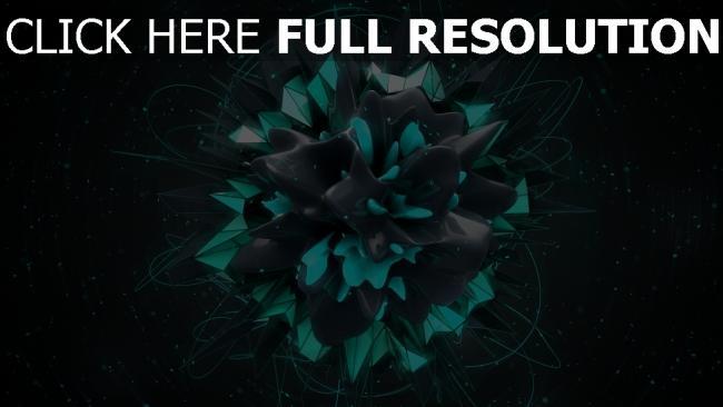 hd hintergrundbilder explosion form volumen grün dunkel