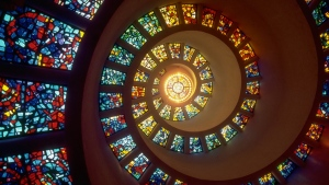 spirale fenster buntglasfenster bunt