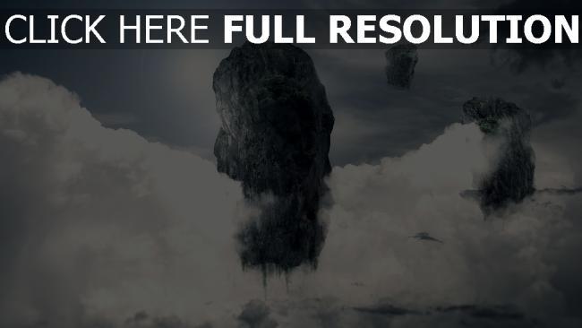 hd hintergrundbilder Himmel abstrakt Wolken Rock