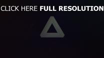 Licht Dreieck Dunkelheit Form