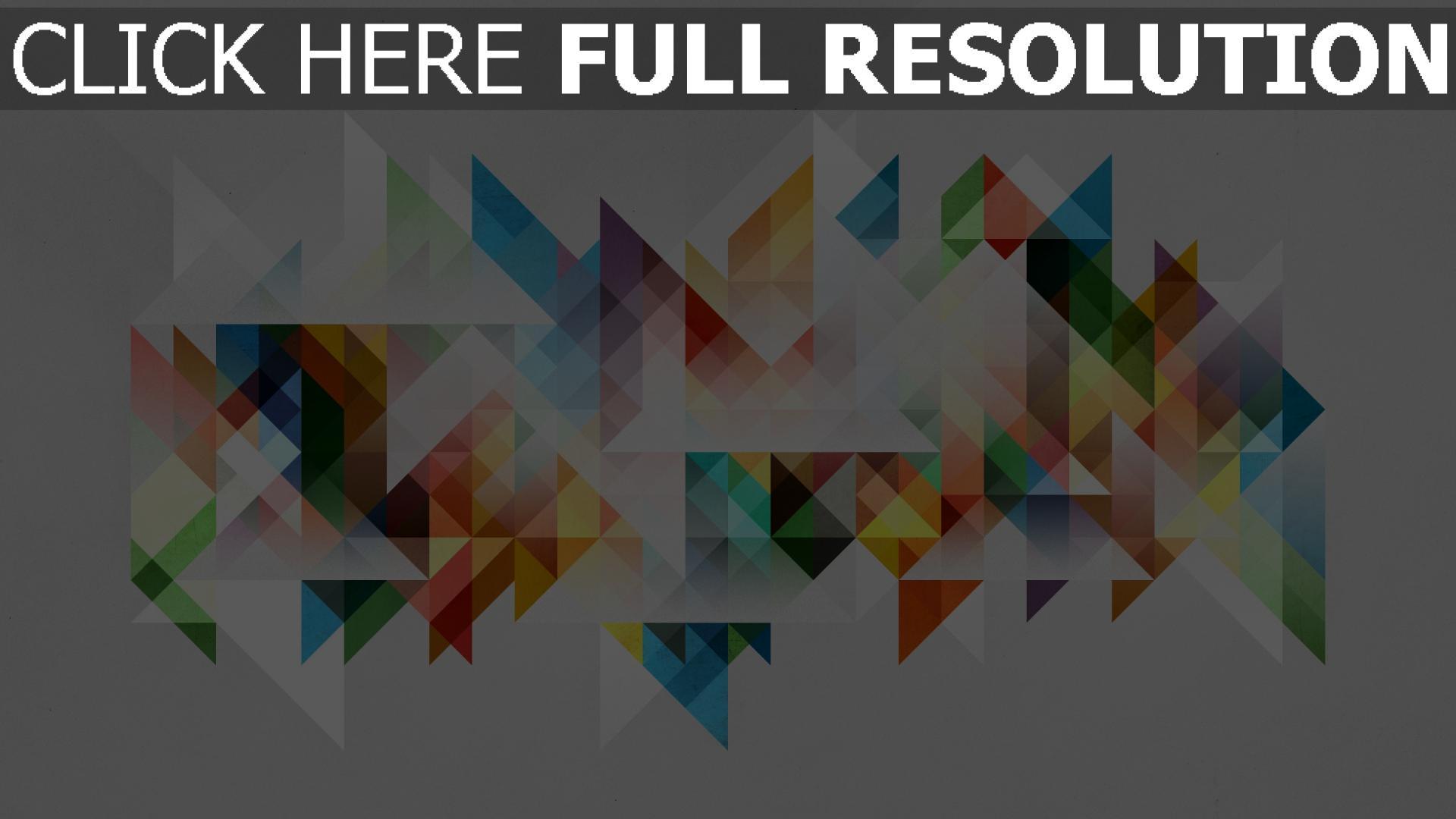 hd hintergrundbilder Farben Geometrie Formen Abstraktion 1920x1080