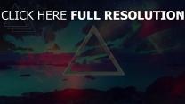 Dreieck  Dunkel  Flecken  Hintergrund