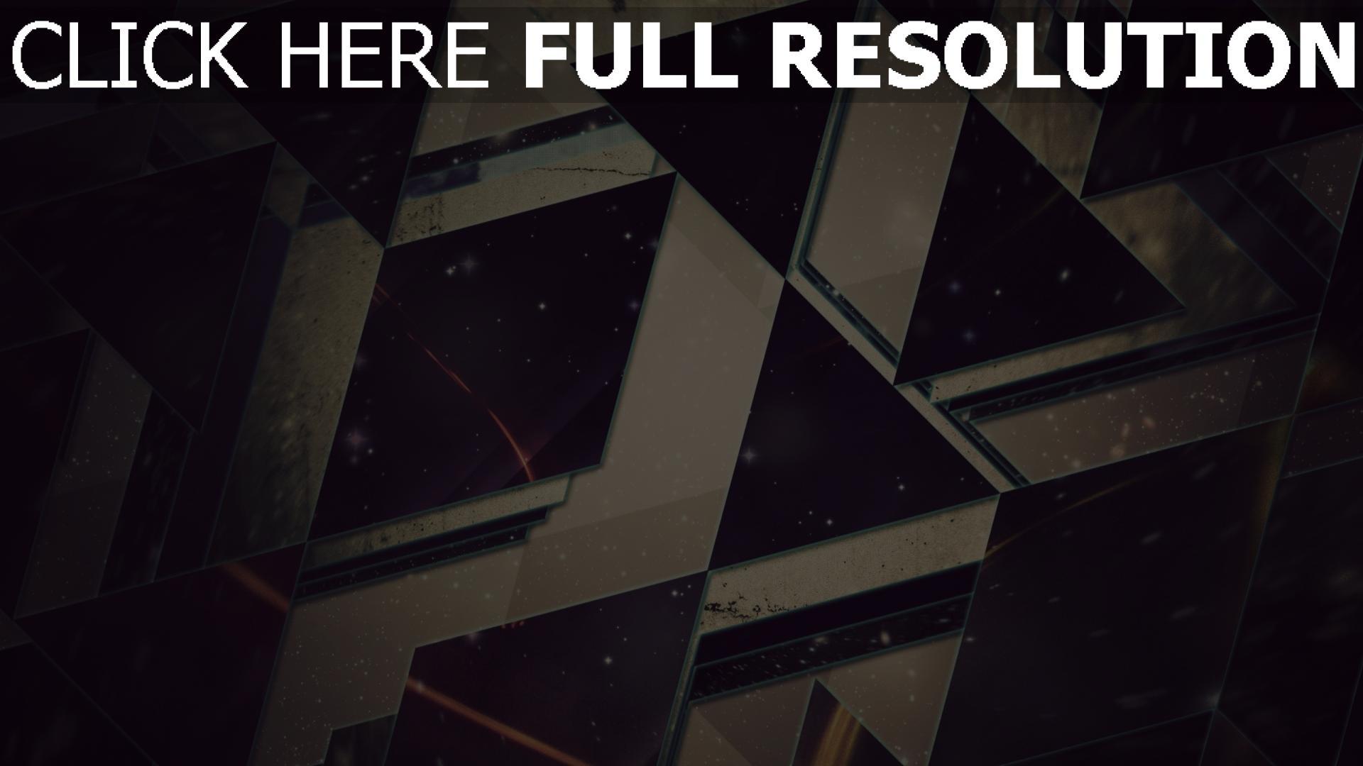 hd hintergrundbilder Dreiecke  leicht  schwarzes  hintergrund 1920x1080