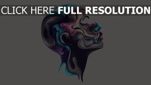 Kopf Profil Farben Farbe