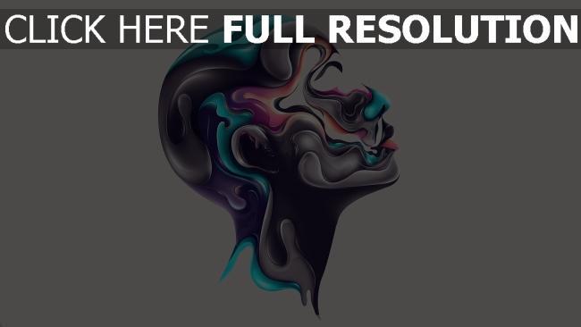 hd hintergrundbilder Kopf Profil Farben Farbe