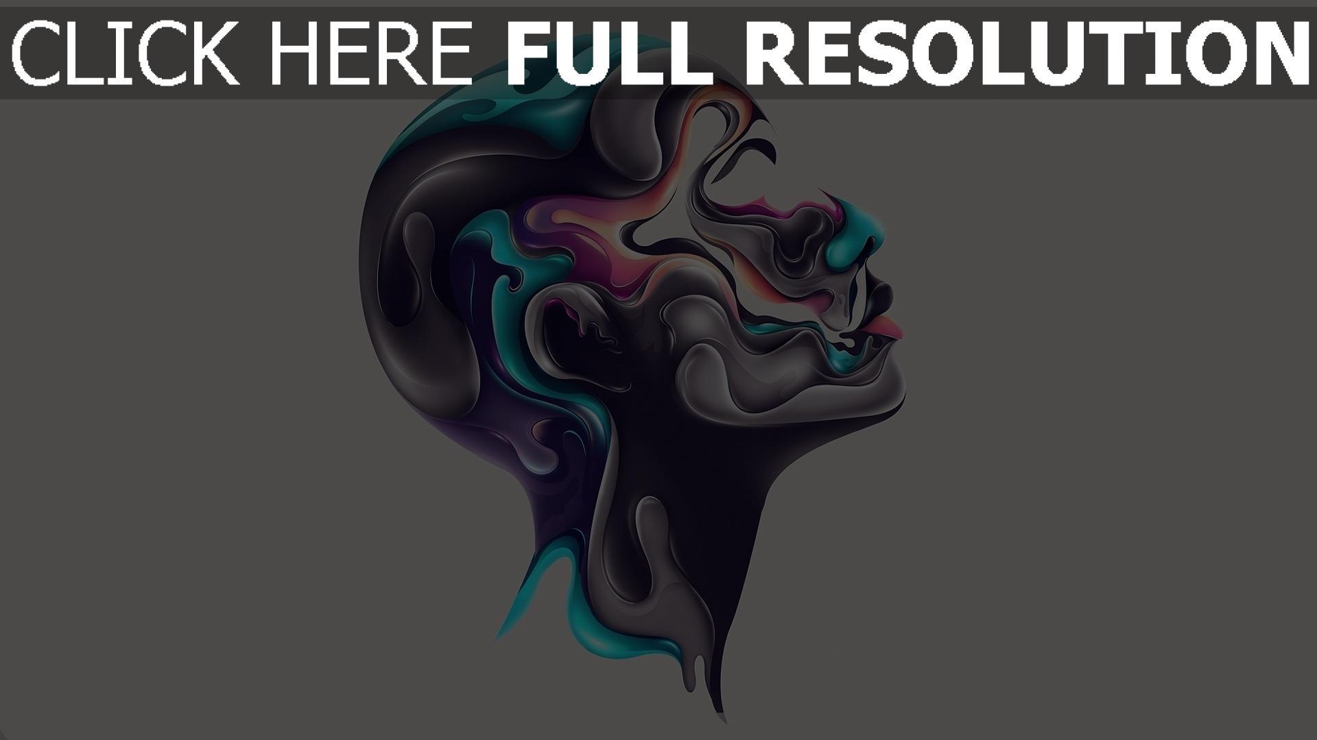 hd hintergrundbilder Kopf Profil Farben Farbe 1920x1080