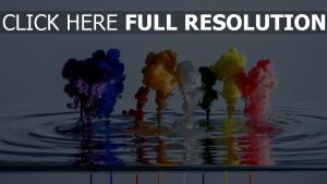 Wasser Rauch Flüssigkeit mehrfarbig