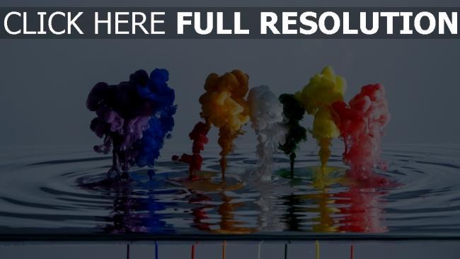 hd hintergrundbilder Wasser Rauch Flüssigkeit mehrfarbig