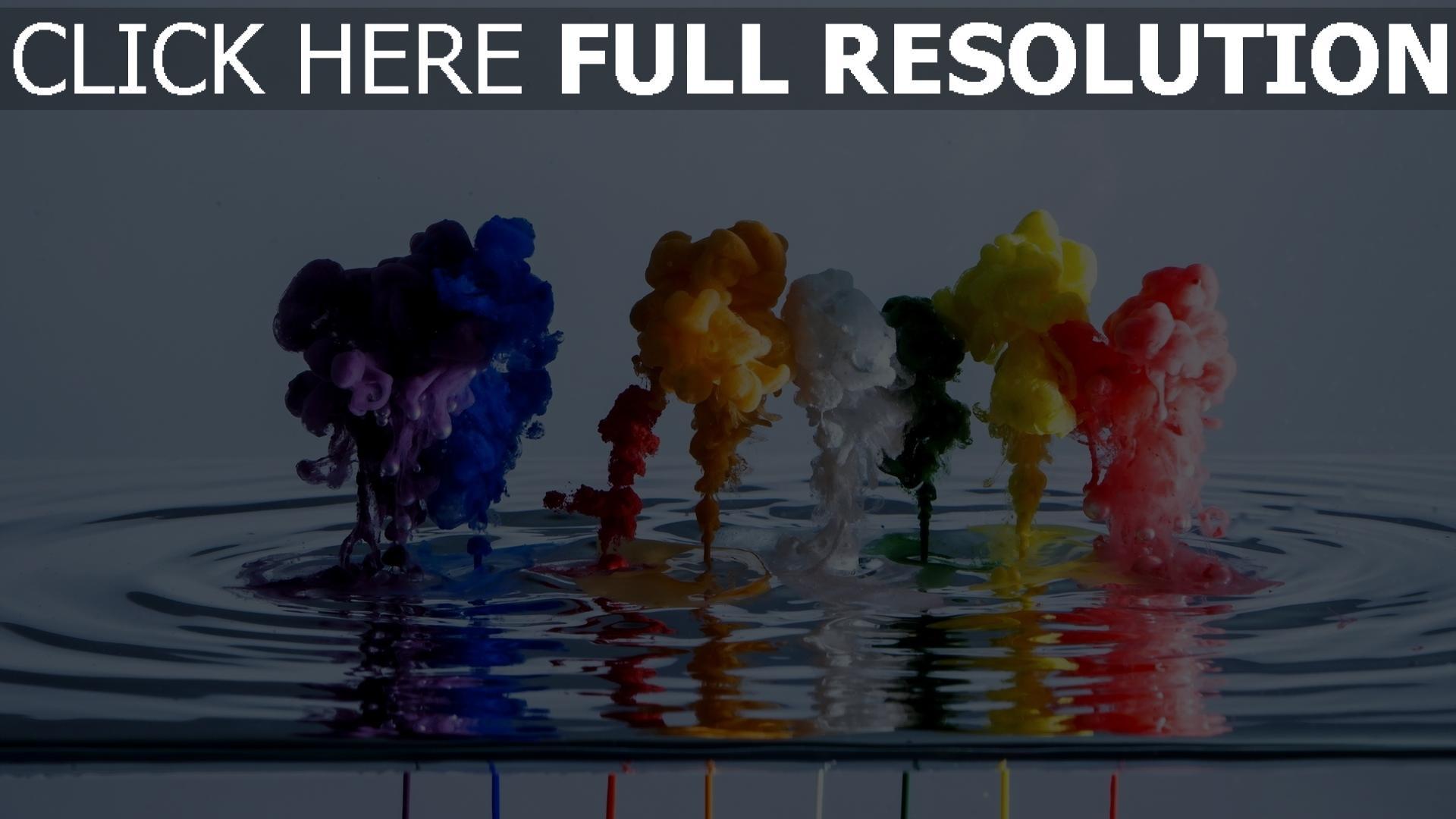 hd hintergrundbilder Wasser Rauch Flüssigkeit mehrfarbig 1920x1080