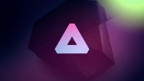 Dreieck Form lila dunkel
