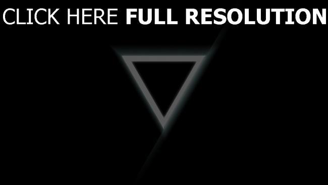 hd hintergrundbilder Dreieck Licht schwarz