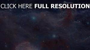 nebelfleck sterne lichter blau