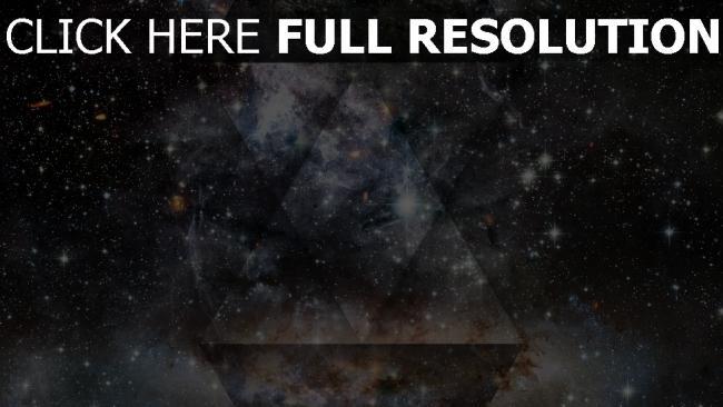 hd hintergrundbilder sterne dreiecke formen schwarzes