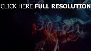 rauch neon blau rot dunkel