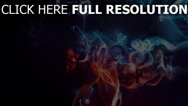 hd hintergrundbilder rauch neon blau rot dunkel