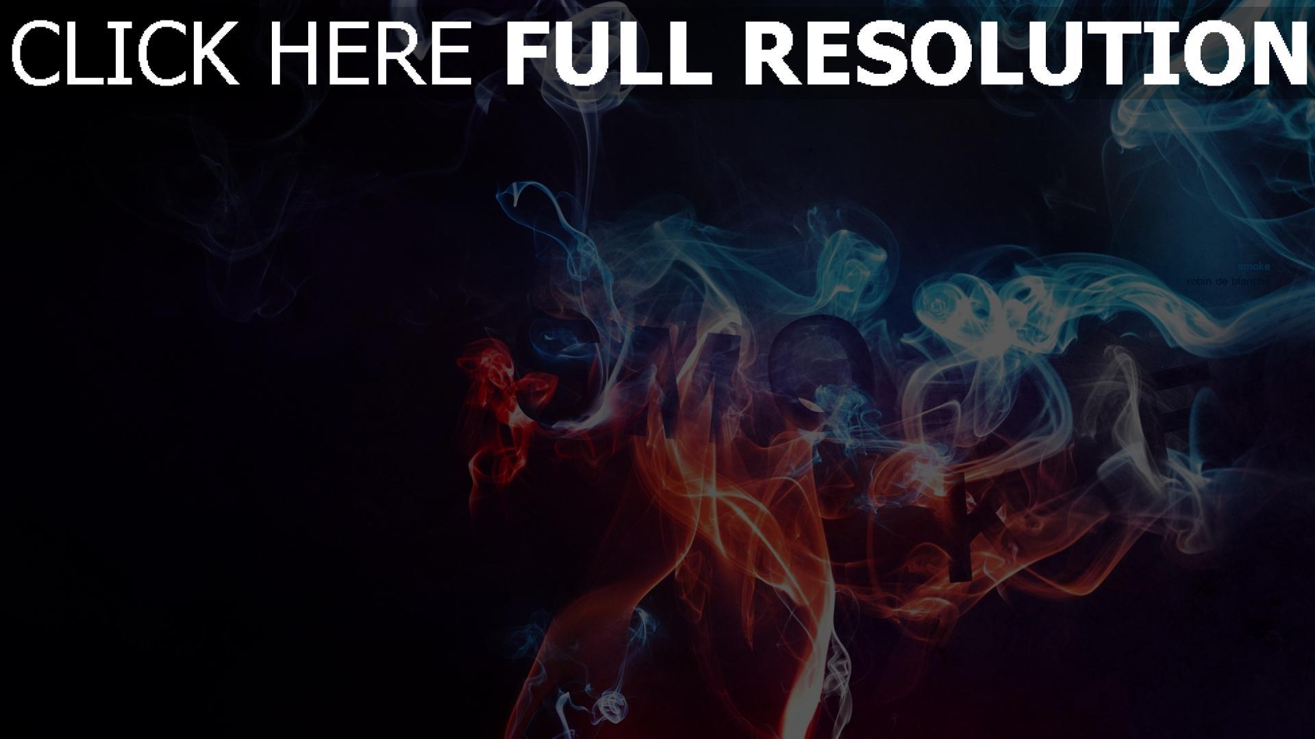 hd hintergrundbilder rauch neon blau rot dunkel 1920x1080