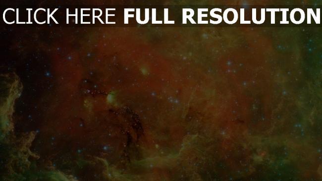hd hintergrundbilder nebelfleck sterne lichter orange