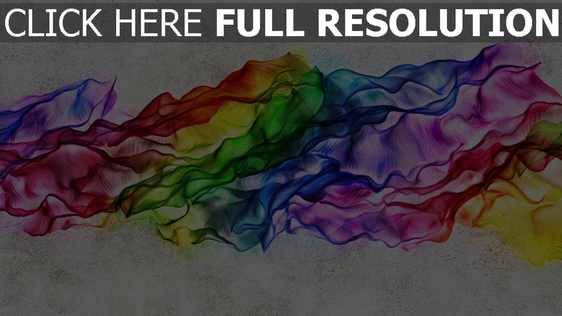 hd hintergrundbilder seide regenbogen bunt falten licht 1920x1080