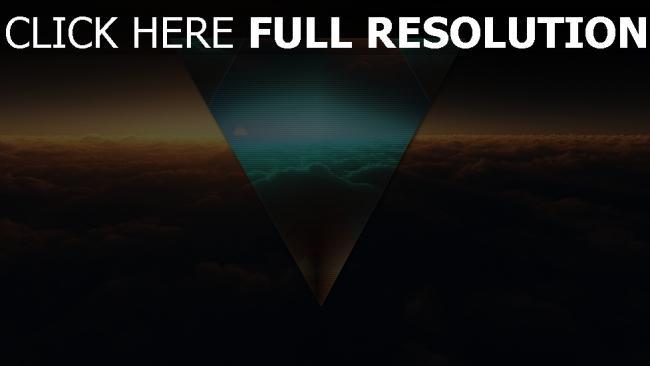 hd hintergrundbilder dreieck glühen wolken dunkel