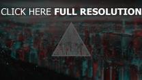 dreieck zeigen form unschärfe