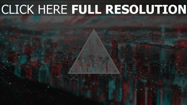 hd hintergrundbilder dreieck zeigen form unschärfe