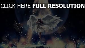 angel licht glühen schön dunkel