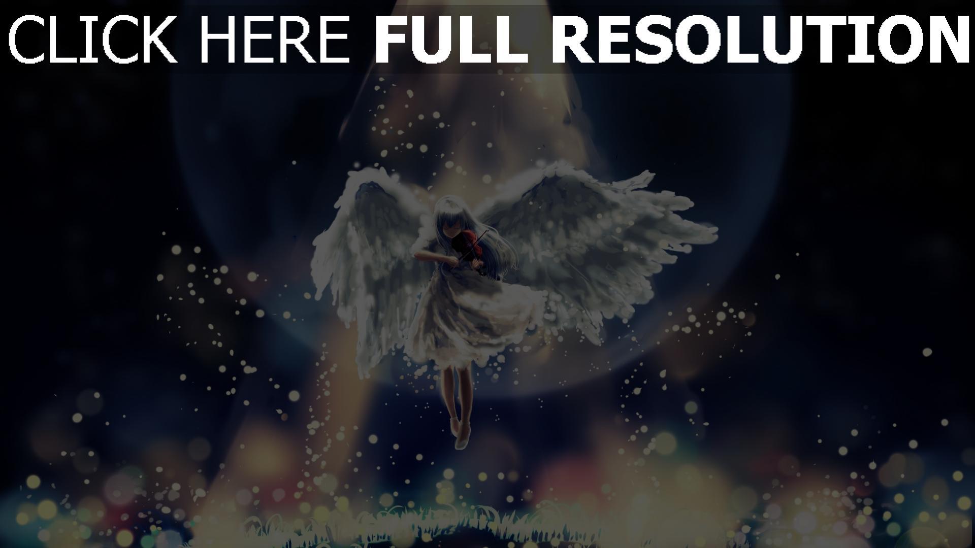 hd hintergrundbilder angel licht glühen schön dunkel 1920x1080