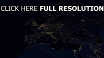karte licht höhe geographie dunkel