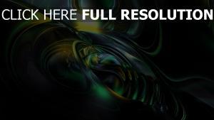 kurven grün leuchten spiral dunkel