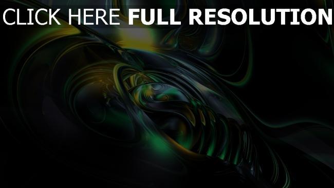 hd hintergrundbilder kurven grün leuchten spiral dunkel