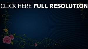 farben linien muster strahlen blau