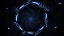 kreis glühen blau neon dunkel