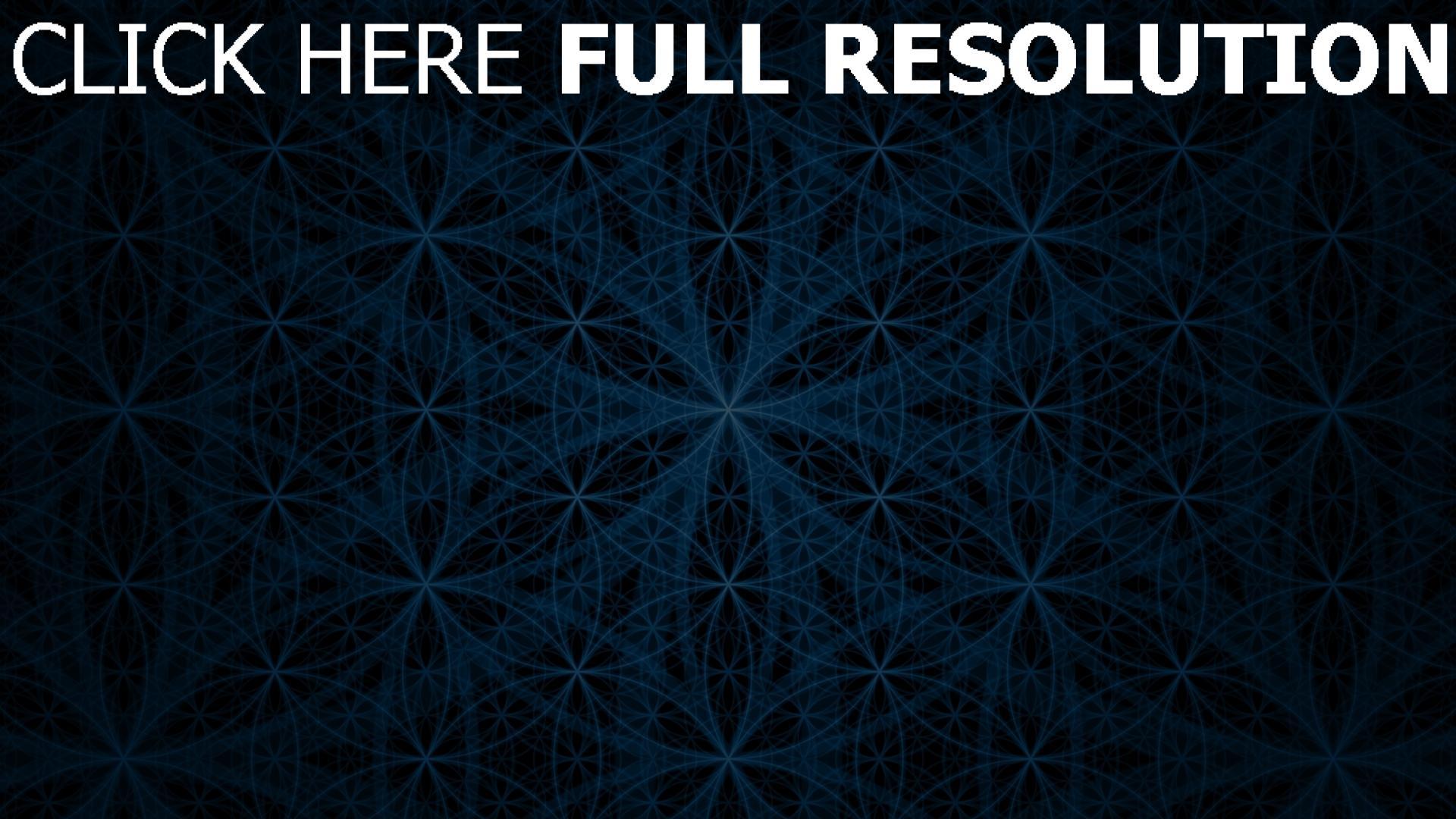 hd hintergrundbilder kreise blau muster textur dunkel 1920x1080