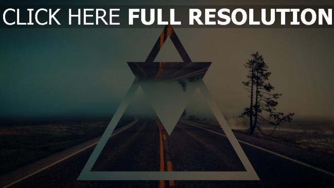 hd hintergrundbilder dreiecke formen straße licht