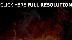 feuer brennen rauch hell dunkel