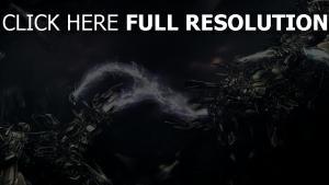 elektrisch entladung roboter technologie dunkel