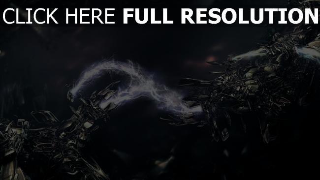 hd hintergrundbilder elektrisch entladung roboter technologie dunkel