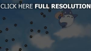 mein nachbar totoro himmel wolken flug