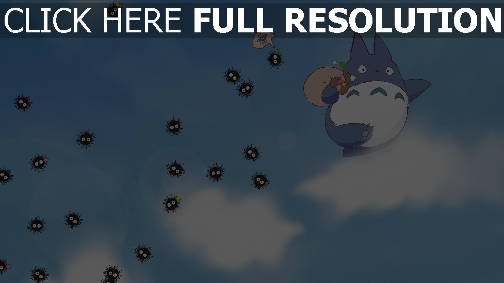 HD Hintergrundbilder Mein Nachbar Totoro Himmel Wolken