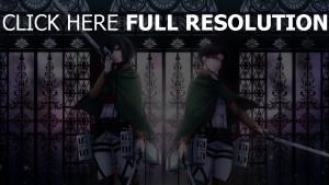 Angriff auf titan art Shingeki keine Kyojin schwerter mädchen junge
