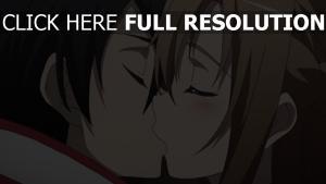 paare jugendliche junge mädchen küssen