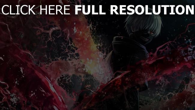 hd hintergrundbilder tokyo ghoul junge blonde maske haube