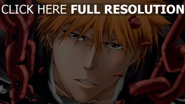 hd hintergrundbilder bleach mann blondes haar blick ketten